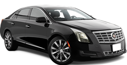 Black luxury sedan that can be reserved for car service, used for personal transportation or airport service