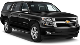Black luxury SUV that can be reserved for personal transportation service or airport transportation