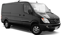 Luxury van that can be reserved for car service, airport shuttle, or airport transportation